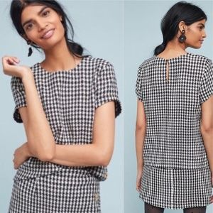 Anthropologie Maeve Townsend Houndstooth Top 16
